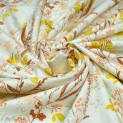 "Tissu jersey motif fleur ""The Open Road"" - Ocre et terracotta - Oekotex - AGF ® Art Gallery Fabrics ® - Tissus - 2"