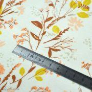 "Tissu jersey motif fleur ""The Open Road"" - Ocre et terracotta - Oekotex - AGF ® Art Gallery Fabrics ® - Tissus - 3"