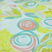 "Tissu jersey motif fleur ""Reverie Fusion"" - Tons jaunes et pastels - AGF ® Art Gallery Fabrics ® - Tissus - 3"