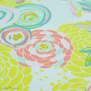 "Tissu jersey motif fleur ""Reverie Fusion"" - Tons jaunes et pastels - AGF ® Art Gallery Fabrics ® - Tissus - 4"
