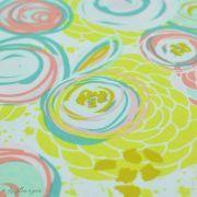 "Tissu jersey motif fleur ""Reverie Fusion"" - Tons jaunes et pastels - AGF ® Art Gallery Fabrics ® - Tissus - 5"