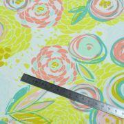 "Tissu jersey motif fleur ""Reverie Fusion"" - Tons jaunes et pastels - AGF ® Art Gallery Fabrics ® - Tissus - 6"