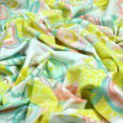 "Tissu jersey motif fleur ""Reverie Fusion"" - Tons jaunes et pastels - AGF ® Art Gallery Fabrics ® - Tissus - 7"