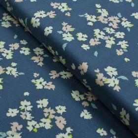 """Tissu jersey motif fleurs """"Mayfair"""" de Amy Sinibaldi - Bleu gris- Oekotex - AGF ® Art Gallery Fabrics ® - Tissus - 1"""