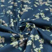 """Tissu jersey motif fleurs """"Mayfair"""" de Amy Sinibaldi - Bleu gris- Oekotex - AGF ® Art Gallery Fabrics ® - Tissus - 2"""