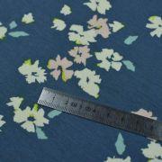 """Tissu jersey motif fleurs """"Mayfair"""" de Amy Sinibaldi - Bleu gris- Oekotex - AGF ® Art Gallery Fabrics ® - Tissus - 3"""