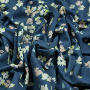 """Tissu jersey motif fleurs """"Mayfair"""" de Amy Sinibaldi - Bleu gris- Oekotex - AGF ® Art Gallery Fabrics ® - Tissus - 5"""