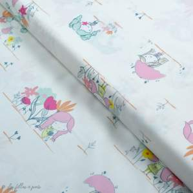 "Tissu coton motif fillettes ""Daydream"" de Patty Basemi - Rose - Oekotex - AGF ® Art Gallery Fabrics ® - 1"