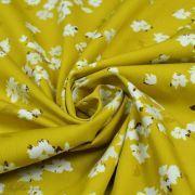 "Tissu coton motif fleurs ""Mayfair"" de Amy Sinibaldi - Ocre - Oekotex - AGF ® Art Gallery Fabrics ® - 1"