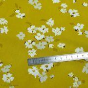 "Tissu coton motif fleurs ""Mayfair"" de Amy Sinibaldi - Ocre - Oekotex - AGF ® Art Gallery Fabrics ® - Tissus - 5"