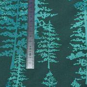 "Tissu coton motif arbres ""Fusion Foresta"" - Tons vert - Oekotex ® - AGF ® Art Gallery Fabrics ® - 1"