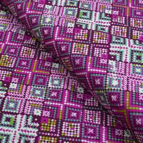 "Tissu coton motif losanges ""Mystical Land"" - Tons roses et violets - Oekotex ® - AGF ® Art Gallery Fabrics ® - Tissus - 1"
