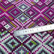"Tissu coton motif losanges ""Mystical Land"" - Tons roses et violets - Oekotex ® - AGF ® Art Gallery Fabrics ® - 1"