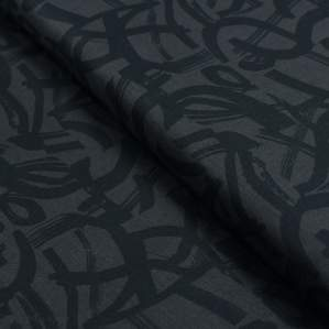 "Tissu coton motif géométrique ""In Bloom"" - Noir - Oekotex ® - Cotton and Steel ® Cotton + Steel Fabrics ® - Tissus - 1"
