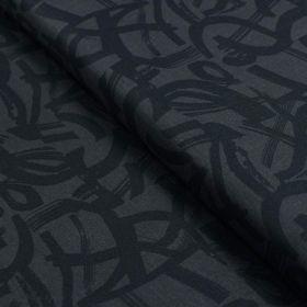 """Tissu coton motif géométrique """"In Bloom"""" - Noir - Oekotex ® - Cotton and Steel ® Cotton + Steel Fabrics ® - 1"""