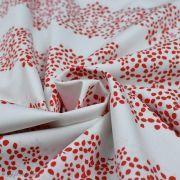 "Tissu coton motif fleurs ""Trinkets Fusion"" - Rouge et écru - AGF ® Art Gallery Fabrics ® - Tissus - 2"