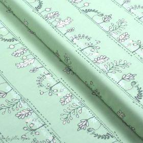 "Tissu coton motif fleur ""Heartland"" - Gris et rose - AGF ® Art Gallery Fabrics ® - 1"
