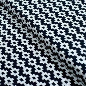 """Tissu coton motif géométrique """"Capsules Pacha"""" - Noir et blanc - Oekotex ® - AGF ® Art Gallery Fabrics ® - Tissus - 1"""