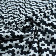 """Tissu coton motif géométrique """"Capsules Pacha"""" - Noir et blanc - Oekotex ® - AGF ® Art Gallery Fabrics ® - Tissus - 2"""