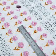 "Tissu coton motif pois et fleurs ""Mayfair"" de Amy Sinibaldi - Rose - Oekotex - AGF ® Art Gallery Fabrics ® - 1"
