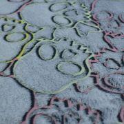 Tissu minky néon phosphorescent double face motif Tête de mort - Gris - Oeko-Tex ® Autres marques - Tissus et mercerie - 4