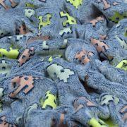 """Tissu minky néon phosphorescent double face motif robot esprit """"Space Invaders"""" - Gris - Oeko-Tex ® Autres marques - 7"""