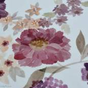 "Tissu jersey coton motif fleurs ""Vintage Floral"" - Blanc et violet - Oeko-Tex ® Family Fabrics ® - Tissus oekotex - 2"