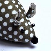 Pique épingle souris en tissu - 3