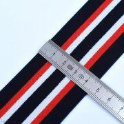 Elastique caleçon boxer rayures - Bleu marine, blanc et rouge - 45mm - 2