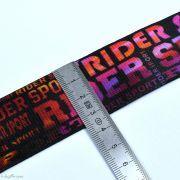 """Elastique caleçon boxer """"Rider"""" - Noir et Multicolore - 35mm  - 2"""