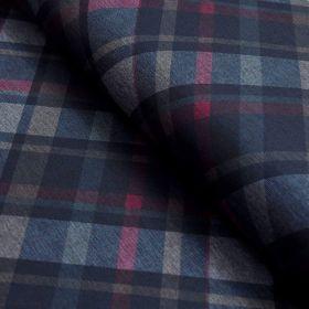 Tissu jersey punto di milano à carreaux Salisbury - Bleu marine Autres marques - Tissus et mercerie - 1