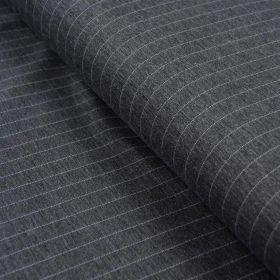 Tissu jersey punto di milano à rayure - Gris et blanc Autres marques - Tissus et mercerie - 1