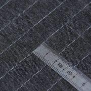 Tissu jersey punto di milano à rayure - Gris et blanc Autres marques - Tissus et mercerie - 4