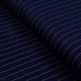 Tissu jersey punto di milano à rayure - Bleu Marine et blanc Autres marques - Tissus et mercerie - 1