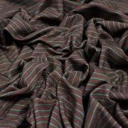 Tissu jersey motif rayures - Marron et bleu - Oeko-Tex ® - Stenzo Textiles ® Stenzo Textiles ® - Tissus Oekotex - 3