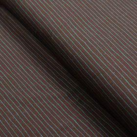 Tissu jersey motif rayures - Marron et bleu - Oeko-Tex ® - Stenzo Textiles ® Stenzo Textiles ® - Tissus Oekotex - 1