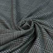 Tissu gabardine de coton stretch motif Salisbury lurex - Beige et noir Autres marques - Tissus et mercerie - 2