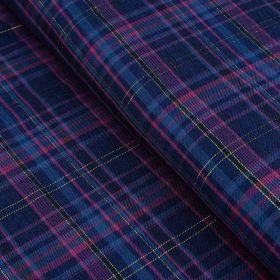 Tissu sergé de viscose carreaux lurex - Bleu marine et violet Autres marques - Tissus et mercerie - 1