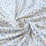 "Tissu jersey motif coeur ""Love Story"" - Ecru et multicolore - Oekotex - AGF ® Art Gallery Fabrics ® - Tissus - 2"
