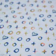 "Tissu jersey motif coeur ""Love Story"" - Ecru et multicolore - Oekotex - AGF ® Art Gallery Fabrics ® - Tissus - 3"