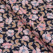 "Tissu coton motif fleurs ""Homebody"" - Gris et terracotta - Oekotex - AGF ® Art Gallery Fabrics ® - Tissus - 1"