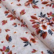 "Tissu coton motif fleurs ""Homebody"" - Rose et terracotta - Oekotex - AGF ® Art Gallery Fabrics ® - Tissus - 1"