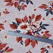 "Tissu coton motif fleurs ""Homebody"" - Rose et terracotta - Oekotex - AGF ® Art Gallery Fabrics ® - Tissus - 5"