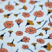 "Tissu coton motif coquelicots ""Homebody"" - Tons oranges - Oekotex - AGF ® Art Gallery Fabrics ® - Tissus - 2"