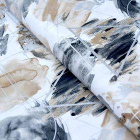 """Tissu coton motif géométrique """"Metallic"""" - Doré et argenté - Oekotex - 3 Wishes Fabrics ® 3 Wishes Fabrics ® - 1"""