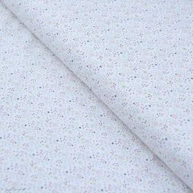 "Tissu jersey coton motif petites étoiles ""Simia"" - Blanc et Rose - Oeko-Tex ® Domotex ® - Tissus Oekotex et BIO - 1"
