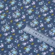 """Tissu jersey coton motif petites fleurs """"Flomi"""" - Gris et rose - Oeko-Tex ® Domotex ® - Tissus Oekotex et BIO - 5"""
