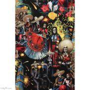 "Tissu coton motif tête de mort ""Fiesta De San Marcos"" - Multicolore - Henry Alexander ® Alexander HENRY Fabrics ® - Tissus - 7"
