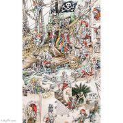 "Tissu coton motif tête de mort ""Skelewags"" pirates - Multicolore - Henry Alexander ® Alexander HENRY Fabrics ® - Tissus - 9"