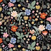 """Tissu coton motif fleuri """"Strawberry Fields"""" - Cotton and steel ® Cotton + Steel Fabrics ® - Tissus - 2"""